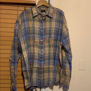 PAUL&SHARK MULTICOLORED LINEN SHIRT